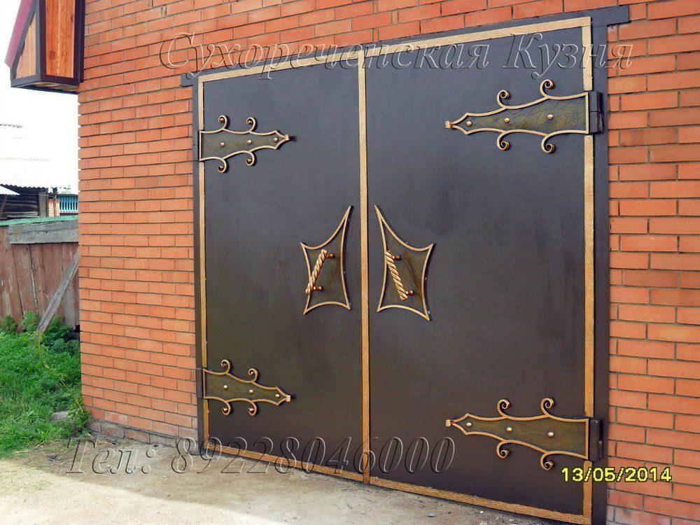 Красивые ворота в гараж своими руками 58